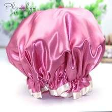 Атласная шапочка для ухода за волосами колпак s колпак для сна Ночная шапочка для сна головной убор для ванны для женщин и мужчин унисекс