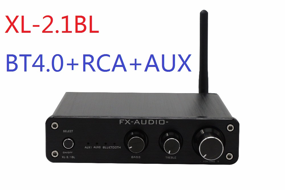 FX-Audio XL-2.1BL High Power 2.1 Channel Bluetooth@4.0 Digital Audio Subwoofer Amplifier Input RCA/AUX/BT 50W*2+100W SW Out
