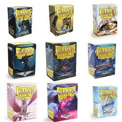 100 pçs/caixa Colorido Fosco Cartões Mangas Demark Dragão Escudo Protetor de Cartões Cartões Capa MGT para PKM/Estrela Placa de Reais jogos