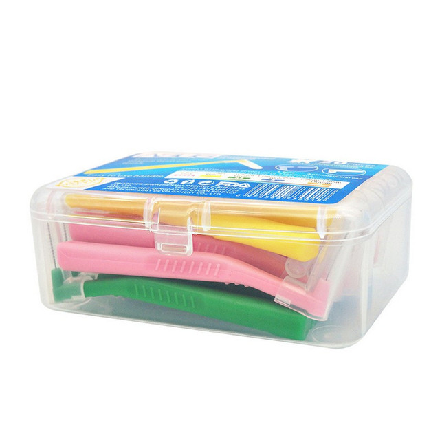 L Shape Push-Pull Interdental Brush 20Pcs/box Oral Care Teeth Whitening Dental Tooth Pick Tooth Orthodontic Toothpick ToothBrush