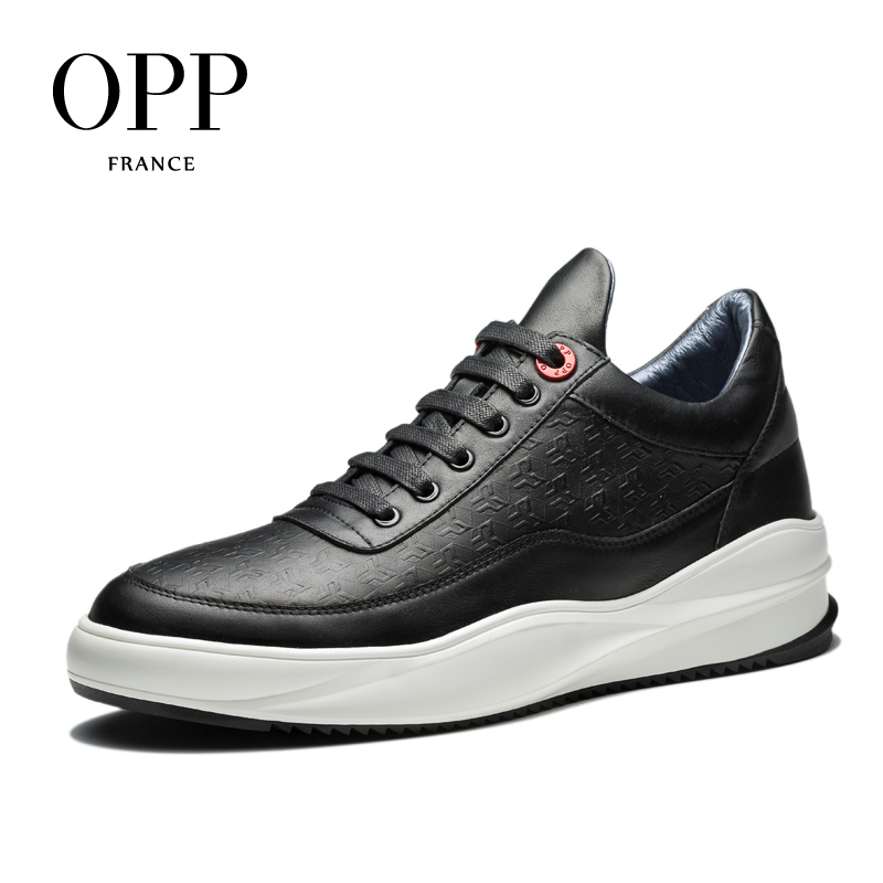 OPP 2017 Height Increasing Men Shoes Loafers For Men Cow Leather Flats Shoes Casual Shoes Loafers footwear for Men Lace up Flats zplover fashion men shoes casual spring autumn men driving shoes loafers leather boat shoes men breathable casual flats loafers