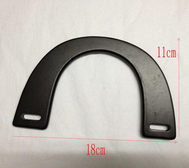 18 x 11 cm  black wooden purse handles