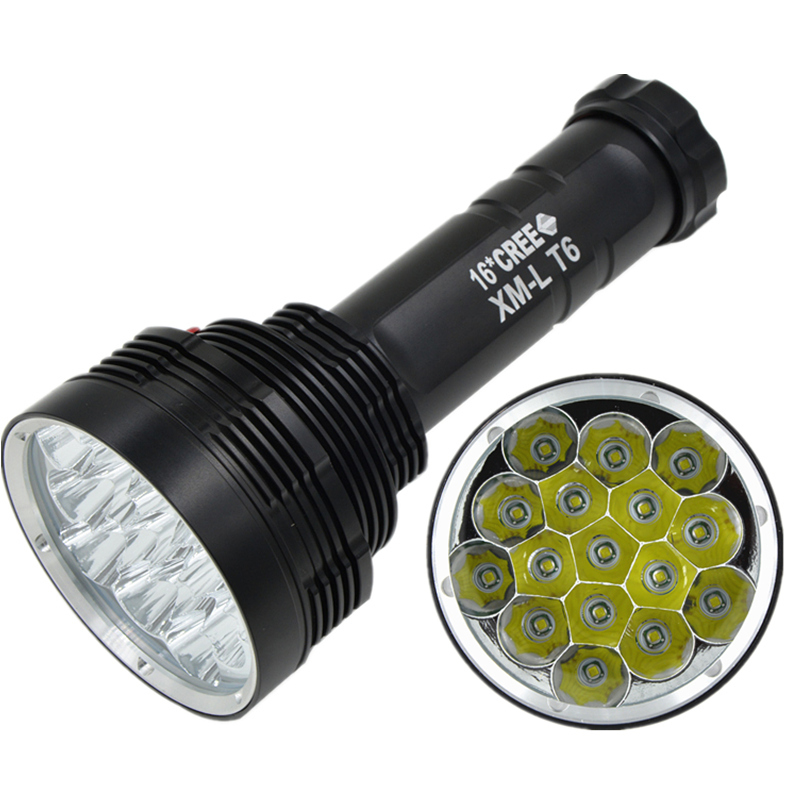 2015 New Skyray High-power Super Bright CREE 16XT6 Led Flashlight Torch 20000LM By 6x 18650 Battery Waterproof p80 panasonic super high cost complete air cutter torches torch head body straigh machine arc starting 12foot