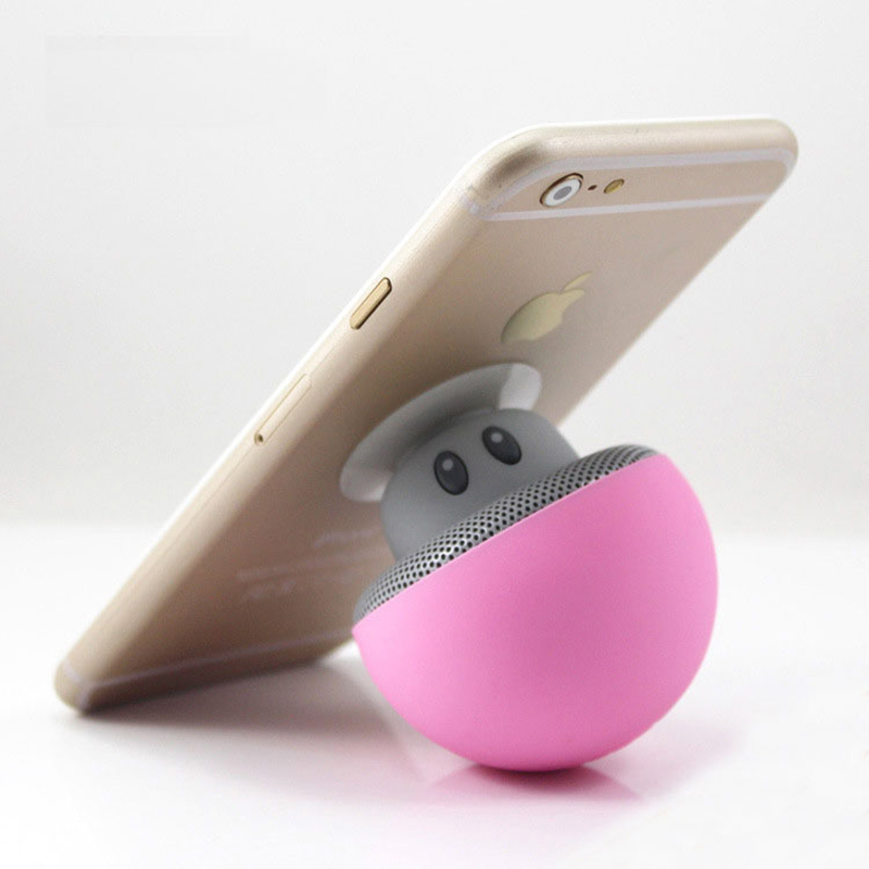 Portable Bracket Cartoon Mushroom Wireless altavoz Bluetooth speaker waterproof sucker audio outdoor mini bluetooth speaker in Portable Speakers from Consumer Electronics