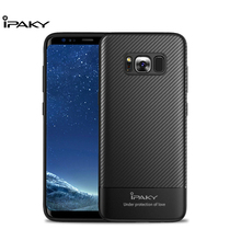 IPAKY Phone Case For Samsung Galaxy S8 Soft TPU Anti-knock Phone Cover Anti-Fingerprint Portective Shell for  Galaxy S8 Case for samsung galaxy a7 2018 fitted shockproof back cover anti skid anti fingerprint silicone soft black tpu phone case