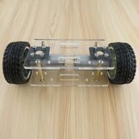 2RM BRICOLAGE Robot Kit Acrylique Plaque De Voiture Châssis Cadre Auto-équilibrage Mini-Deux-drive 2 Roues 176*65mm Technologie Invention Jouets