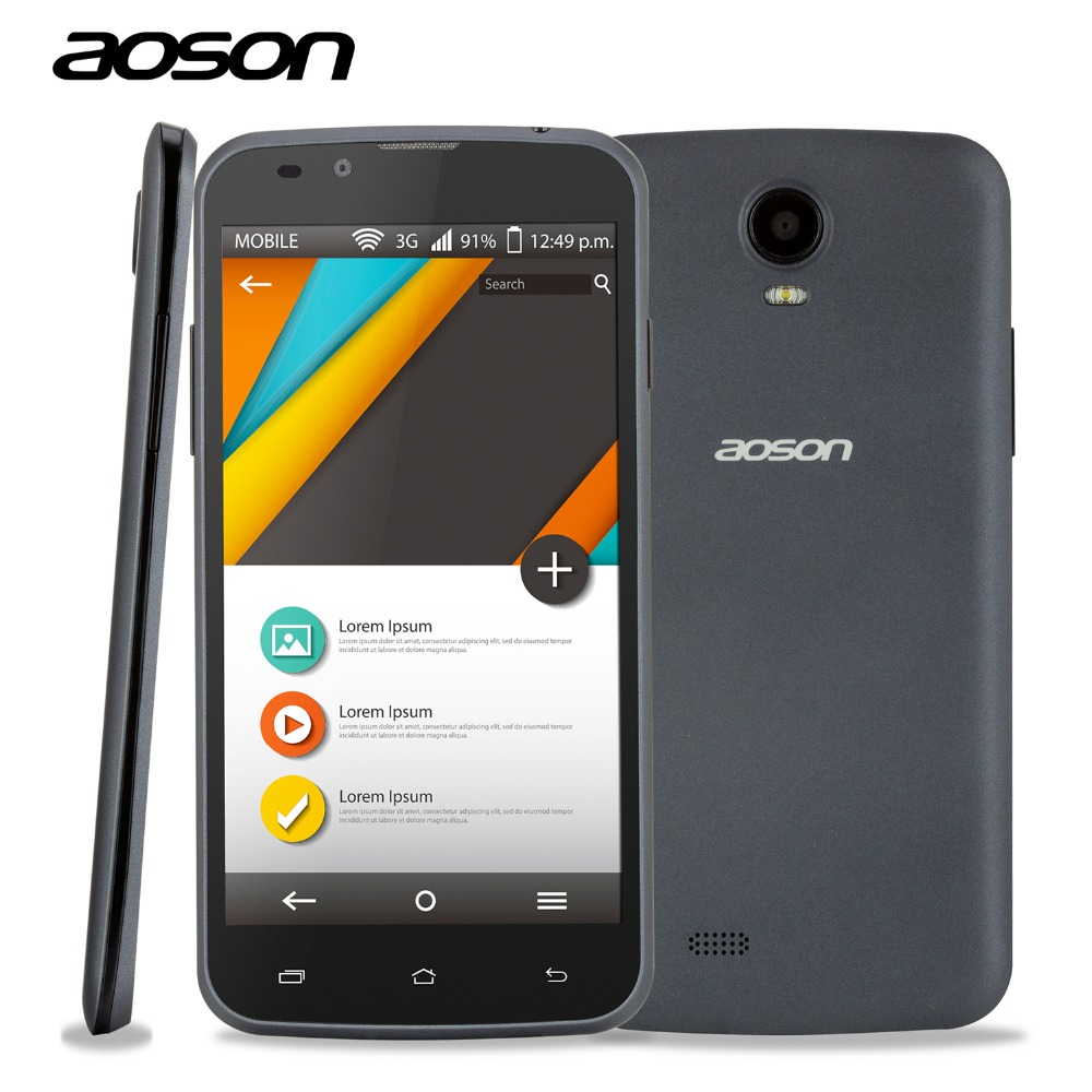 Original Cheap Sale Android 3G Unlocked Smart font b Phone b font Aoson G506 MTK6572 Dual