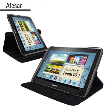 Funda giratoria de soporte para Samsung Galaxy Note GT N8000 N8013 tablet case-Funda de cuero pu de 360 grados para Note 10,1 (2012 editon)