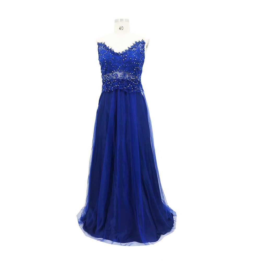 Kadın Resmi Düğün Elbise Uzun Akşam Parti Elbise Balo balo elbisesi Zarif vestido Bayanlar Dantel Çiçek uzun elbise
