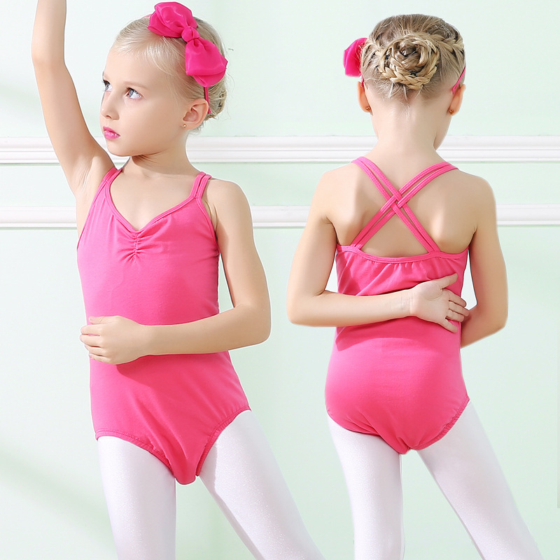 New brand Children Latin Dance Costumes For Girls Kids Leotard Gymnastics Clothing Ballet Dancewear Jumpsuit
