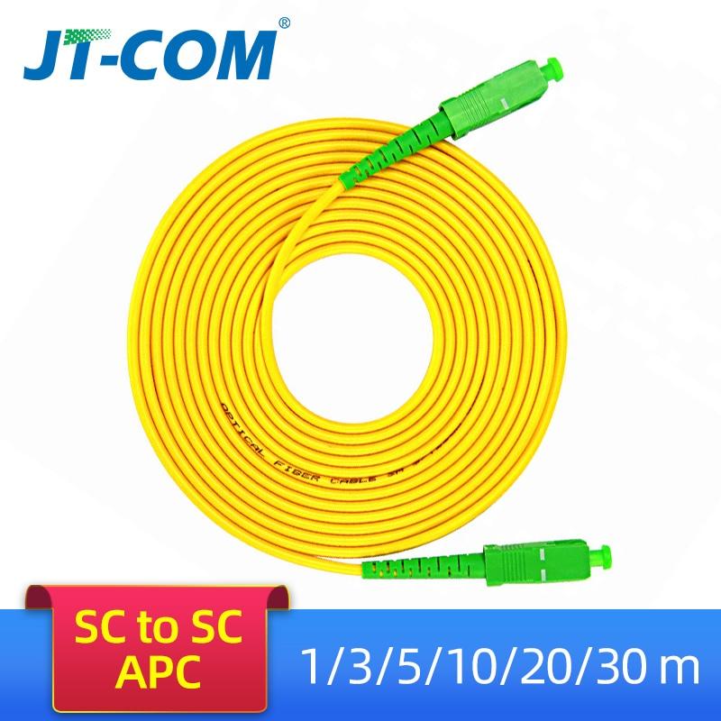 10pcs SC/APC Fiber Optic Patch Cord Cable SM SC-SC 3.0mm 3M Jumper Single Mode Simplex 3mm Optical Fibra Optica FTTH 9/125um PVC10pcs SC/APC Fiber Optic Patch Cord Cable SM SC-SC 3.0mm 3M Jumper Single Mode Simplex 3mm Optical Fibra Optica FTTH 9/125um PVC