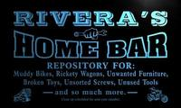 X1061 Tm Rivera S Home Bar Garage Custom Personalized Name Neon Sign Wholesale Dropshipping