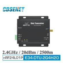 1 pc lora 2.4 ghz 장거리 무선 모듈 cdsenet E34 DTU 2G4H20 rs485 rs232 무선 uhf 모듈 rf 트랜시버 2.4g dtu