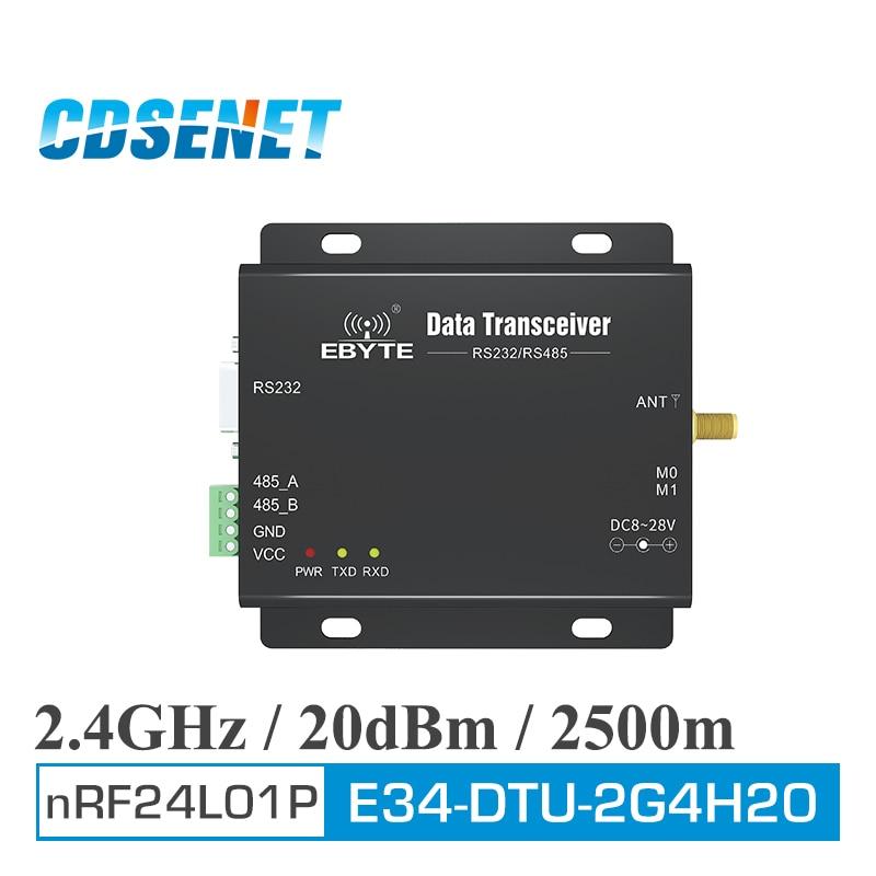 1PC LoRa 2.4GHz Long Range Wireless Module CDSENET E34-DTU-2G4H20 RS485 RS232 Wireless Uhf Module RF Transceiver 2.4g DTU