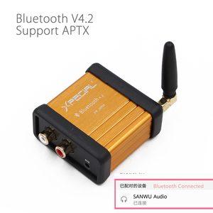 Image 1 - QCC3008 HIFI Class بلوتوث 5.0 4.2 استقبال الصوت مكبر للصوت مرحبا فاي سيارة ستيريو تعديل دعم APTX تأخير منخفض الذهب الأسود