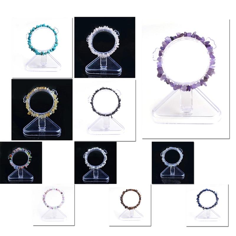 Atacado 10pcs \ Cura Artesanal Natural Elastic Charme Chip Contas de Cristal pulseiras para as mulheres pulseira feminina