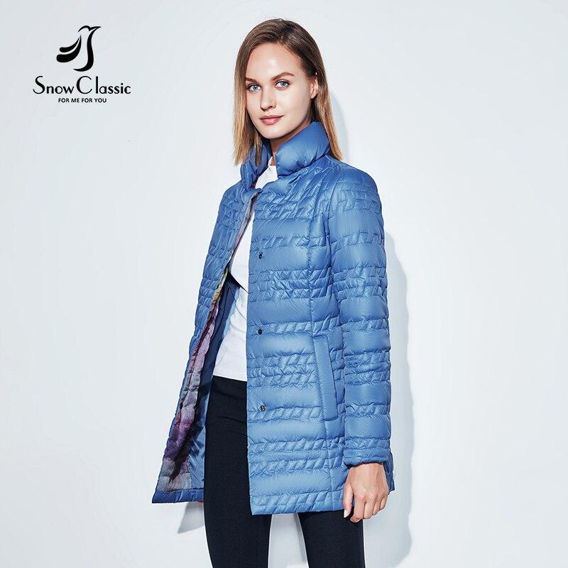 SnowClassic 2018 Spring Coat Windbreaker Short Jacket Ladies Fashion Collar Thin Cotton Windproof Breathable European Style