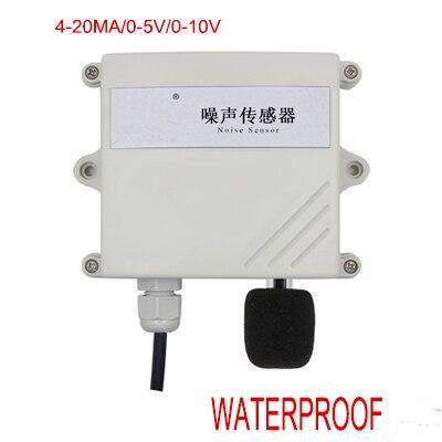 شحن مجاني 1 قطعة دقة عالية على الخط مراقبة الضوضاء جهاز إرسال مُستشعر 4 20mA/0 5 فولت/0 10 فولت مقاوم للماء استشعار الضوضاء الصوت