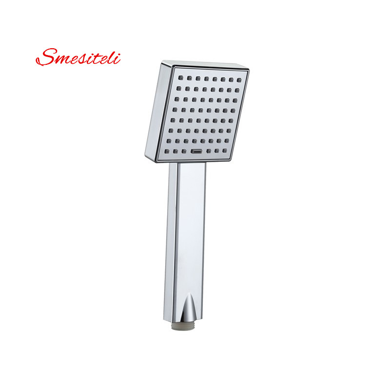 Smesiteli Hot Sale Bathroom High Pressure Shower Head Chrome Square Rainfall Handheld Shower Head Water Saving Sprayer