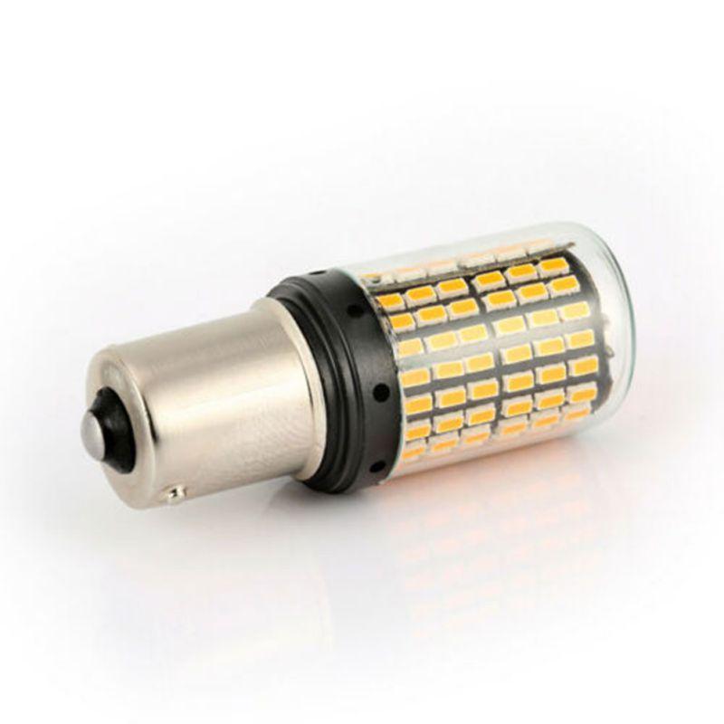 2 шт. T20 7440 W21W 1156 BA15S P21W BAU15 PY21W Автомобильный светодиодный свет сигнальная Поворотная лампа свет задний Реверс лампы задний стоп-сигнал лампы - Испускаемый цвет: BA15S Yellow