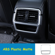 Fit For Skoda Kodiaq 2017 2018 ABS Matte Car Back Rear Air Condition outlet Vent frame Cover Trim car styling accessories 2pcs