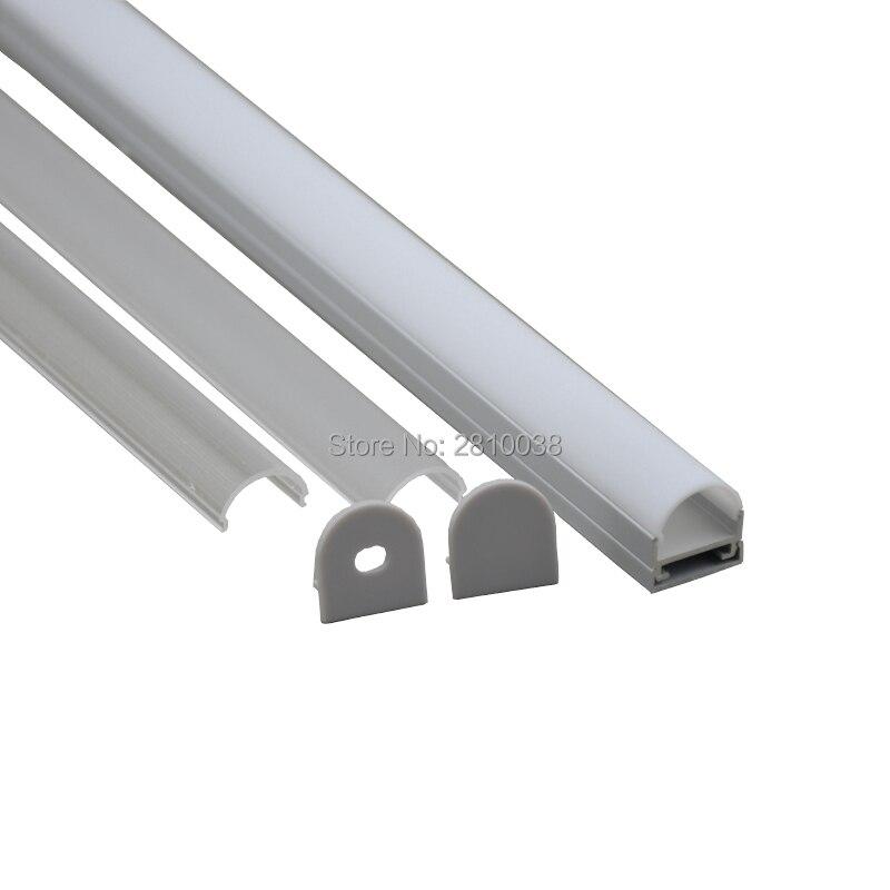 10X1 M ensembles/Lot profilé de canal LED en aluminium anodisé de type carré et profil led encastré AL6063 pour lampes suspendues ou suspendues