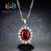 Beiver Fashion 5 Colors AAA+ Zircon Flower Necklace for Women White Gold Color W