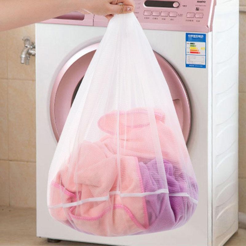 Laundry Net Bag Drawstring Closure Washing Machine Aid Mesh Bags For Shirts Bra Lingerie Underwear -Drop