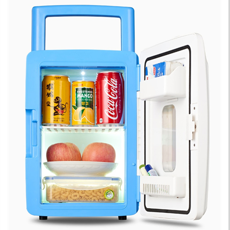 Electric Mini Portable Electric Refrigerator AC220V DC12V Cooler And Warmer Machine 12L High Quality With Nightlight Function
