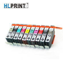 Pro10 PGI72 Compatível cartucho de tinta Canon PIXMA PBK/MBK/C/M/Y/PM/PC/R/GY/impressora CO 10 pçs/lote