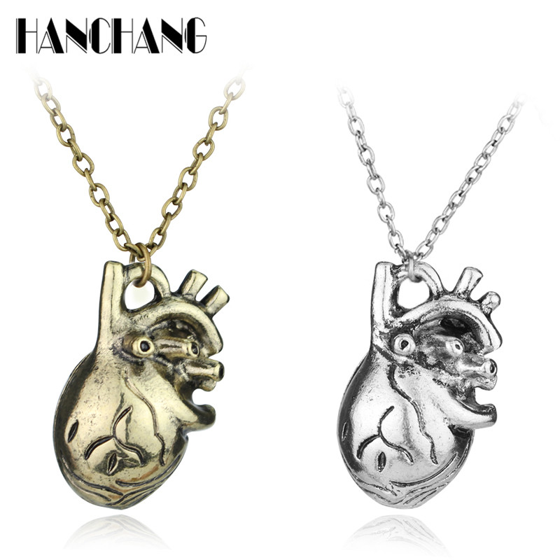 Vintage Funny accessories ColarTiny Anatomical Heart