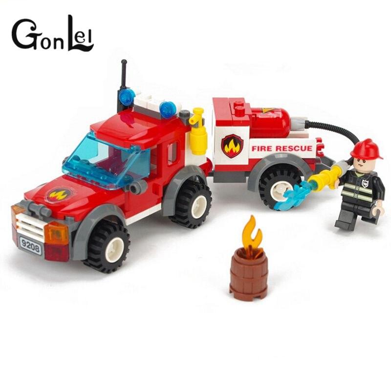 GonLeI Christmas Gift Toys for Children Gudi Fire Rescue Truck Building Blocks Assembled Model Building Kits Small Bricks Toy мыльница iddis mirro