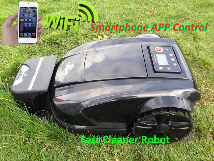 2016 Newest 4th Generation Intelligent Robot Lawn Mower Updated with WIFI Smartphone App Control With NewestRange Function