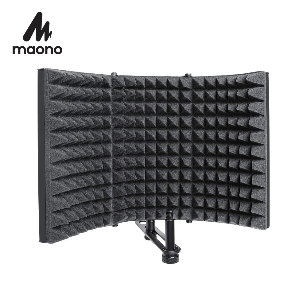 Foldable Microphone Acoustic Isolation Shield Alloy Acoustic Foams Panel Studio Recording Microphone Accessories(China)