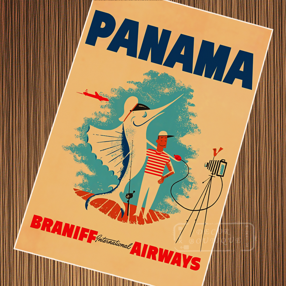 Panama Canal Cruise the historicTour Classic Retro Vintage Poster ...