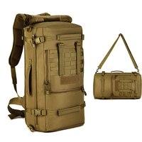 50L Backpack Sport Gym Bag Travel Handbag Luggage Bag Men Outdoor Military Camouflage Hiking Camping Shoulder Tactical Package