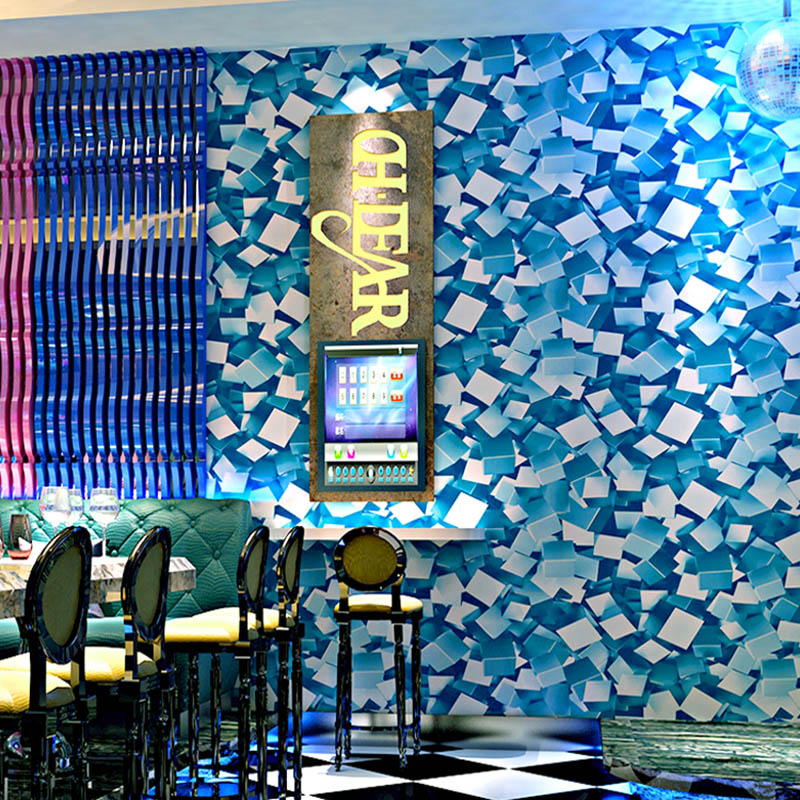 Geometric Wallpapers 3D Personalized Shinning Mosaic Wall Paper Roll  for Bar KTV Room Wall Decor Background Wallpaper for Walls