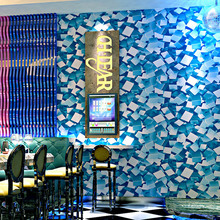 Geometric Wallpapers 3D Personalized Shinning Mosaic Wall Paper Roll  for Bar KTV Room Decor Background Wallpaper Walls