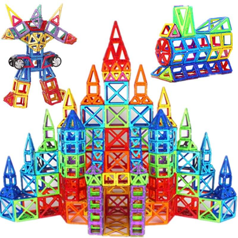 3D Mini taille magnétique blocs de Construction Designer accessoire de Construction en plastique aimant tirant jouets éducatifs bricolage pour enfants cadeaux