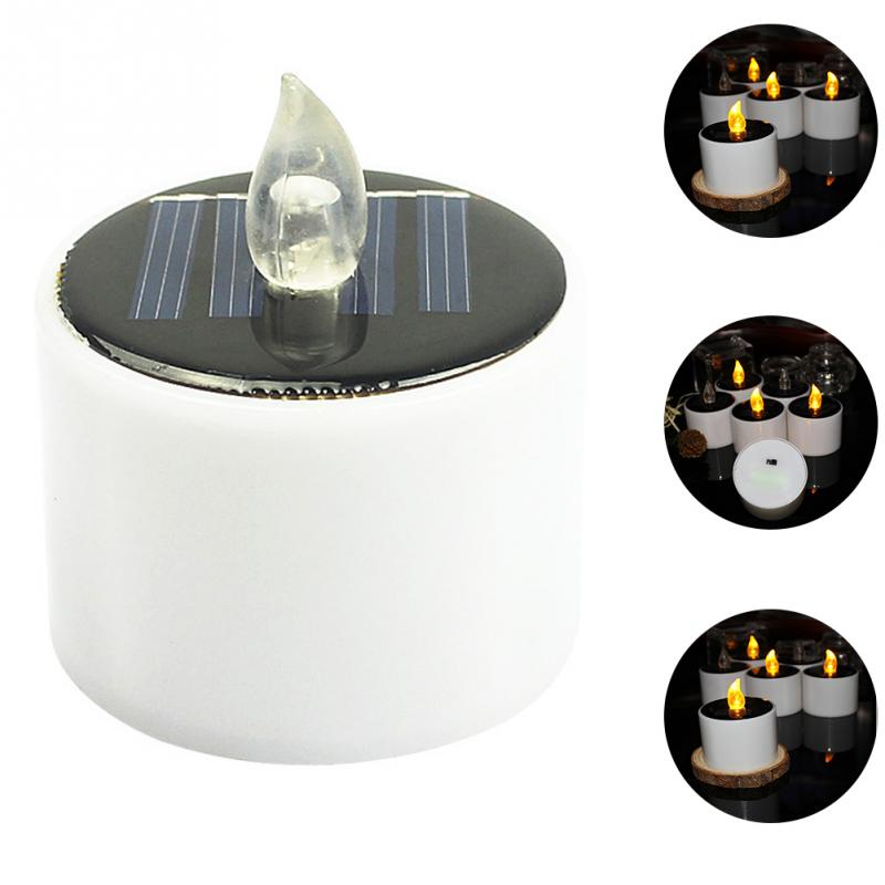 Eco-friendly Outdoor Smokeless Garden Light Solar Powered LED Candle