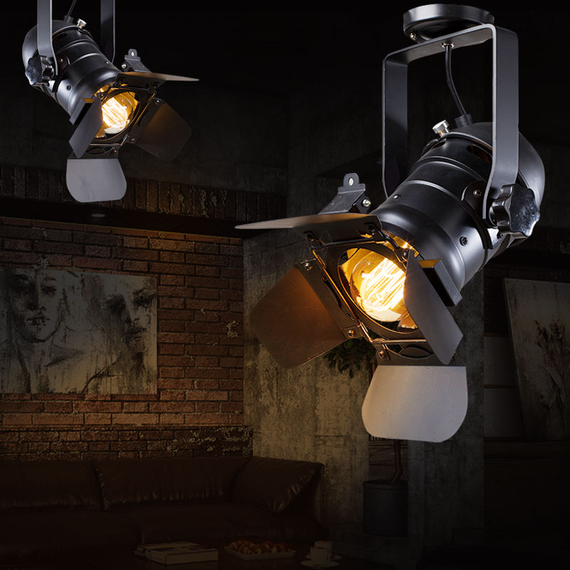 Loft RH American Rural Industrial Retro personality Lighting Ceiling Lamps Absorb Dome Light include E27 LED Bulbs 9166