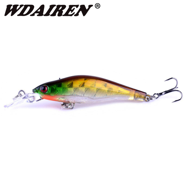 US $0 97 29% OFF|1Pcs Floating Black Minnow Fishing Lures Jarkbait Wobblers  Artificial pike lure 80mm/6 5g mega bass hard lures Fishing tackle-in