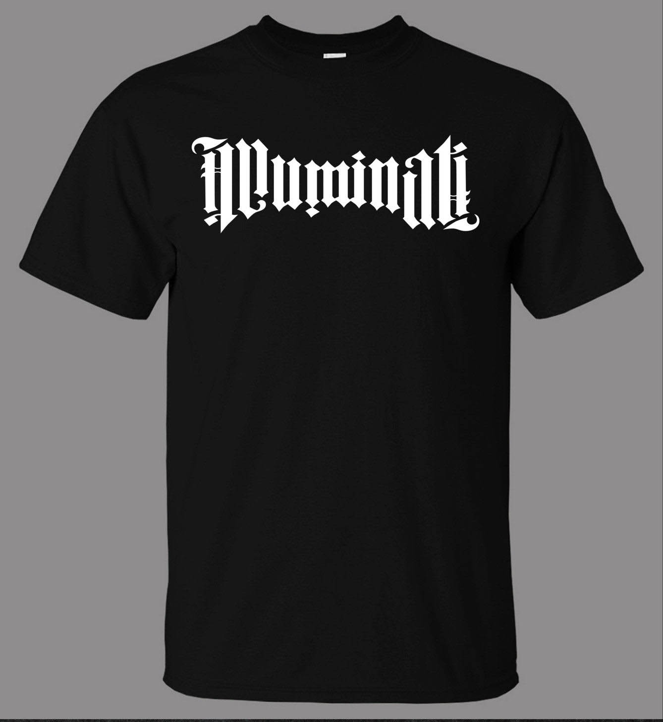 Illuminati Ambigram T-Shirt - Direct From Stockist New T Shirts Funny Tops Tee New Unisex Funny Tops Shirt Plus Size