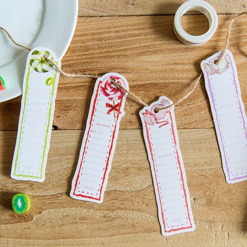 Купить с кэшбэком 30pcs/box kawaii Vibrant candy Bookmarks Marker Stationery Gift painting Bookmarks Office School supplies papelaria Stationery