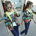 Camouflage girls coat autumn new wind warm hooded jacket toddler girl dress children clothes wear out of the cute girl