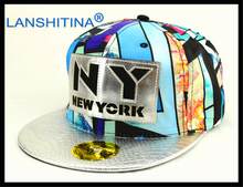 LANSHITINA 2017 brand caps Color leather ny baseball cap snapback baseball cap ny hip hop font