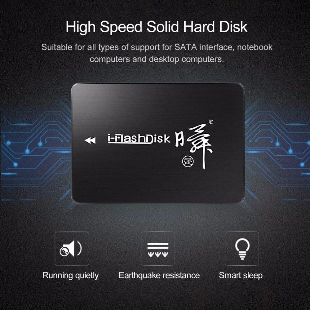 2017 plus récent i-flash K8 2.5 pouces 64 GB SSD SATA3 haute vitesse disque dur solide Portable facile à transporter boîtier HDD pour ordinateur