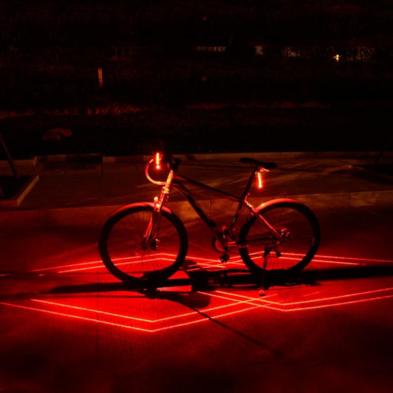 Купить с кэшбэком Folding Laser Bike Light Front Rear Safety Warning Bicycle Light USB Rechargeable Bike Tail Rear Light Waterproof Cycling Lamp