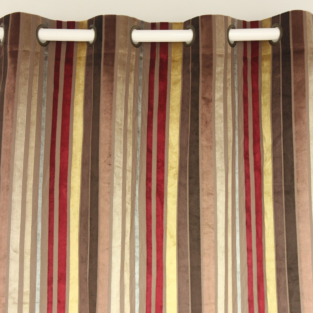 Red velvet window curtains - Aliexpress Com Buy Vezo Home Multi Burgundy Stripes Velvet Window Treatment Curtains Panel Door Bedroom Living Room Home Decorative Curtain 5 Sizes From