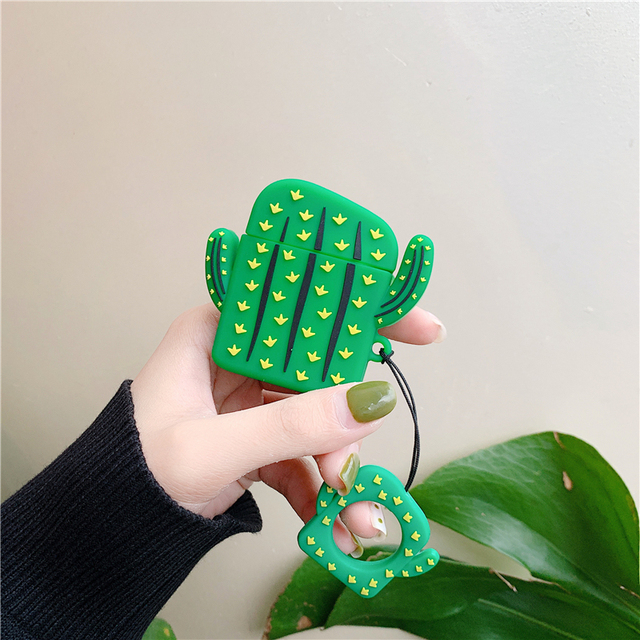 Cute Cactus Airpods Case Cover
